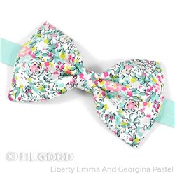 Nœud papillon Liberty Emma and Goergina pastel