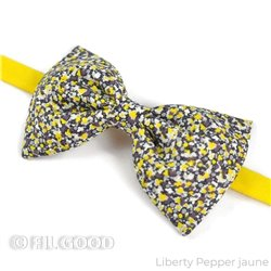 Nœud papillon Liberty Pepper jaune