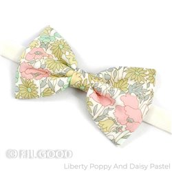 Nœud papillon Liberty Poppy and daisy pastel