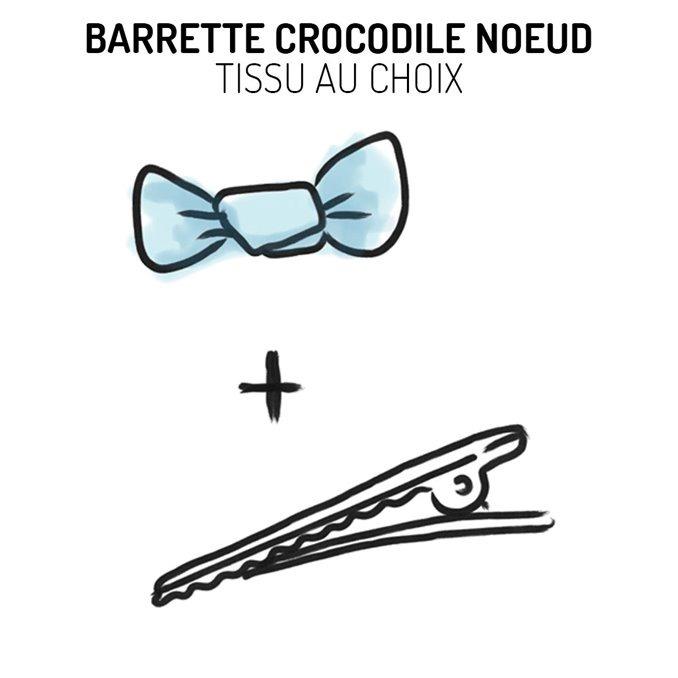 Barrette pince crocodile noeud Liberty - Tissu au choix