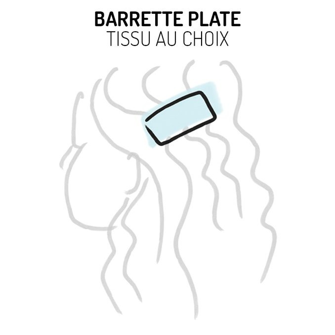 Barrette plate Liberty - Tissu au choix