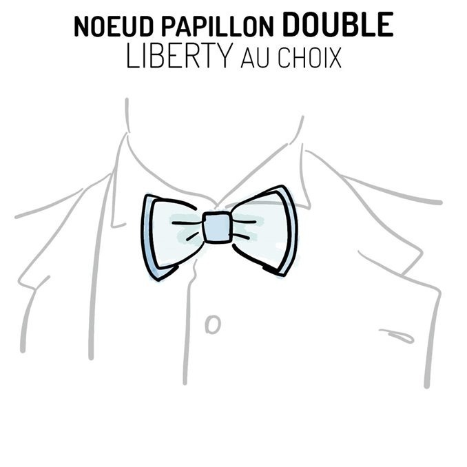Nœud papillon double Liberty personnalisable