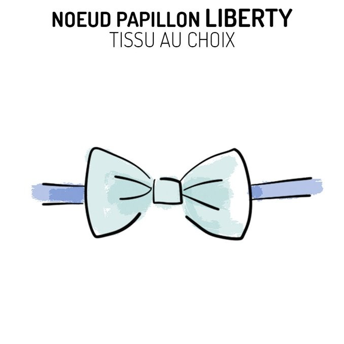 Nœud papillon Liberty personnalisable