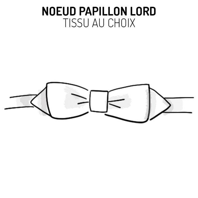 Nœud papillon lord personnalisable