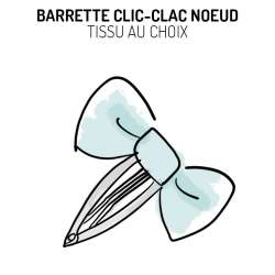 Barrette noeud clic-clac Liberty Betsy pomme