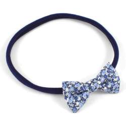 Bandeau enfant noeud Liberty Pepper bleu