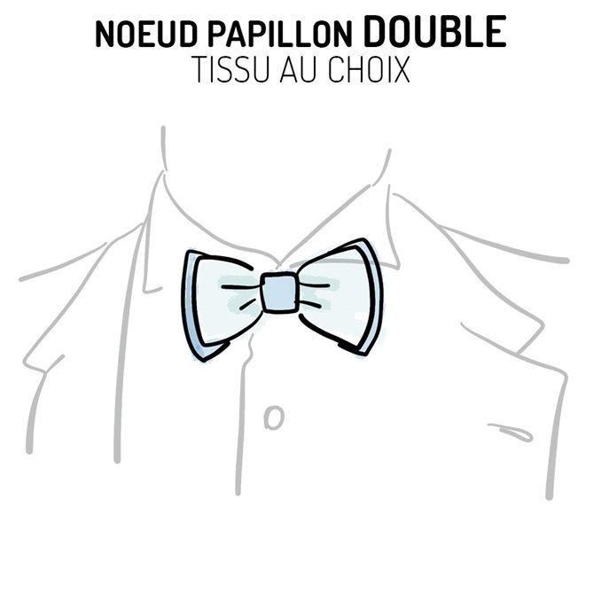 Nœud papillon double personnalisable