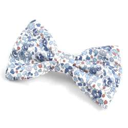 Broche noeud papillon Liberty Eloise bleu