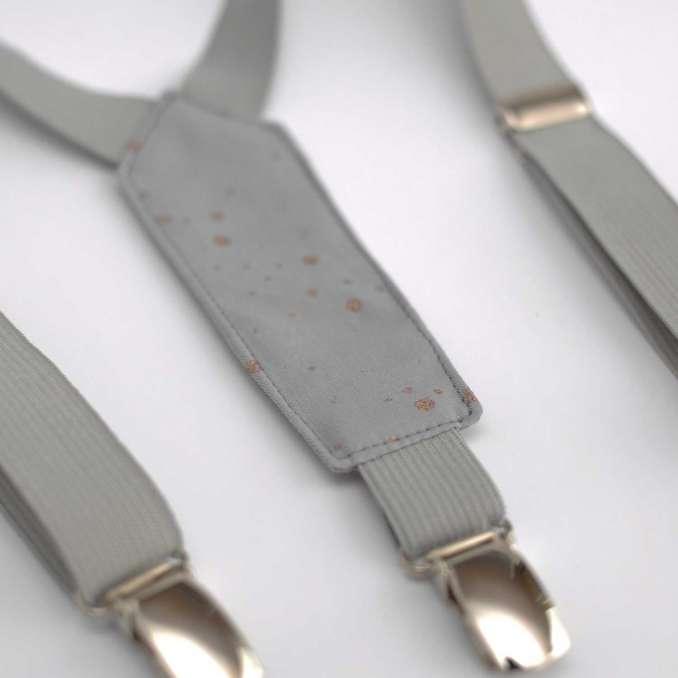 Bretelles enfant élastique gris et tissu gris France Duval