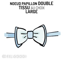 Nœud papillon double LARGE