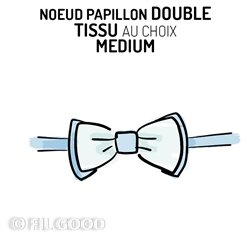 Nœud papillon double MEDIUM