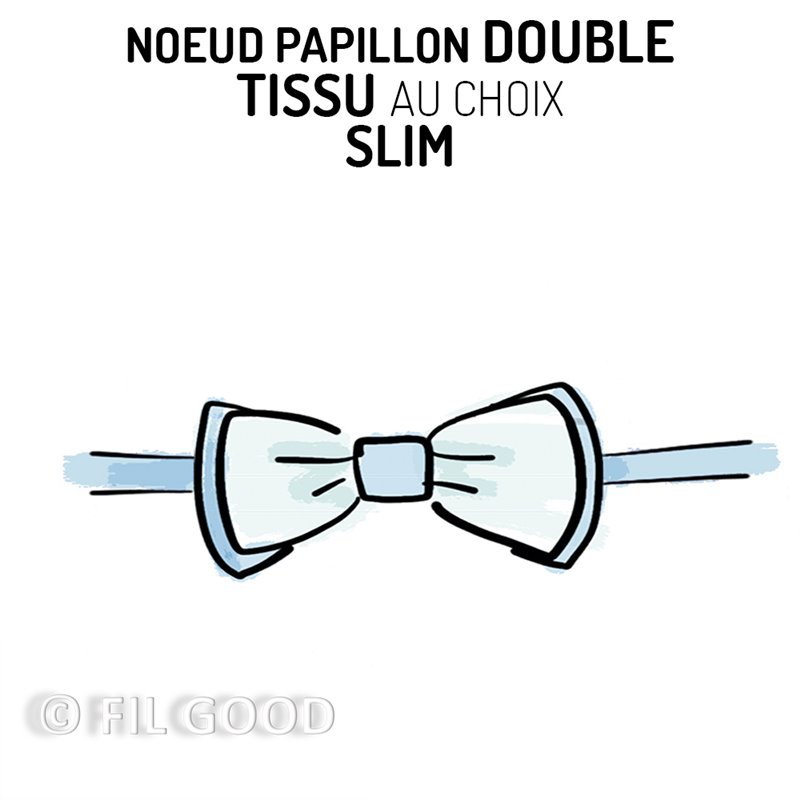 Nœud papillon double SLIM