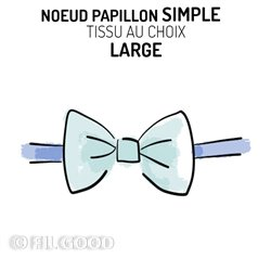 Nœud papillon simple LARGE