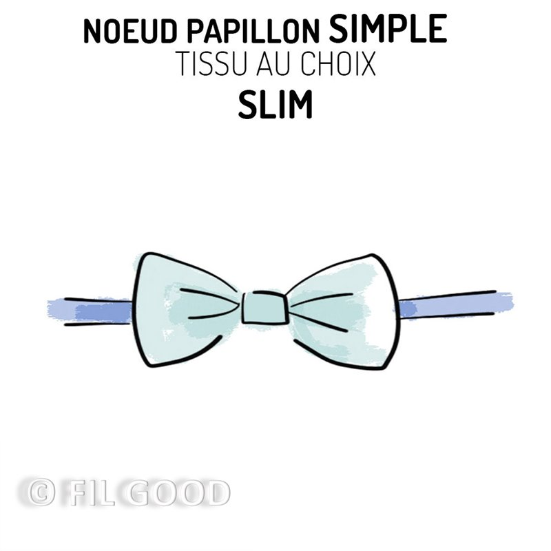 Nœud papillon simple SLIM