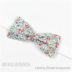 Nœud papillon simple SLIM Liberty Eloise turquoise