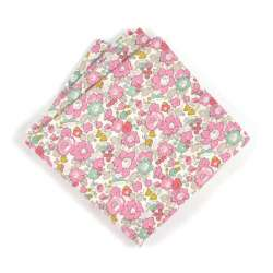 Pochette de costume Liberty Betsy ann rose FIL GOOD Made in France