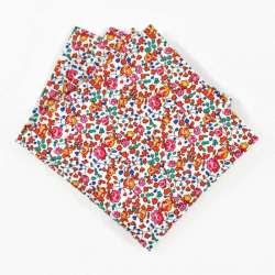 Pochette de costume Liberty Eloise fraise petites fleurs orange FIL GOOD Made in France