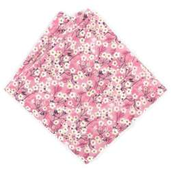 Pochette de costume Liberty Mitsi valeria orchidee rose FIL GOOD Made in France