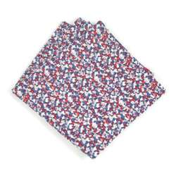 Pochette de costume Liberty Pepper Bleu et rouge FIL GOOD Made in France