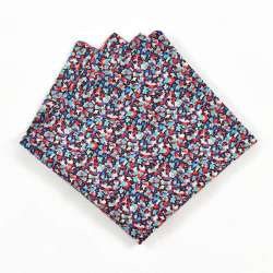 Pochette de costume Liberty pepper bleu vert rouge FIL GOOD Made in France