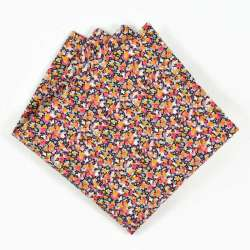 Pochette de costume Liberty Pepper orange FIL GOOD Made in France
