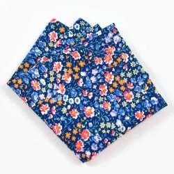 Pochette de costume Liberty Phoebe and jo bleu A petites fleurs FIL GOOD Made in France