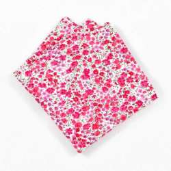 Pochette de costume Liberty Phoebe rose petites fleurs FIL GOOD Made in France