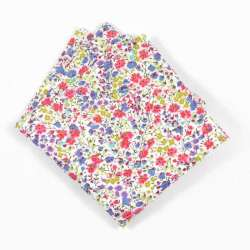 Pochette de costume Liberty Phoebe sweetie petites fleurs rose bleu jaune FIL GOOD Made in France