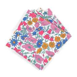 Pochette de costume Liberty Poppy and Daisy fluo FIL GOOD Made in France