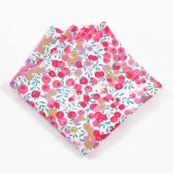 Pochette de costume Liberty Wiltshire fraise FIL GOOD Made in France