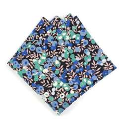 Pochette de costume Liberty Wiltshire Noir bleu vert FIL GOOD Made in France