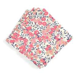 Pochette de costume Liberty Wiltshire pois de senteur FIL GOOD Made in France
