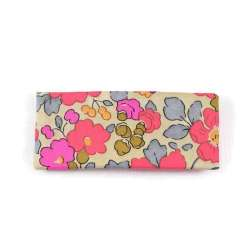 Barrette plate Liberty Betsy fluo thé