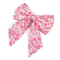Barrette gros noeud Liberty mitsi valeria orchidée rose FIL GOOD Made in France