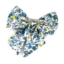 Barrette gros noeud Liberty Wiltshire mimosa FIL GOOD Made in France
