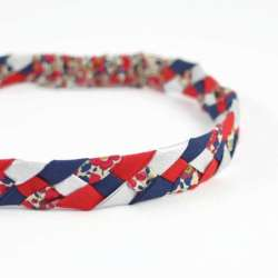 Headband LIBERTY Betsy ann rouge FIL GOOD Made in France