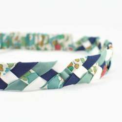 Headband LIBERTY Betsy turquoise vert FIL GOOD Made in France