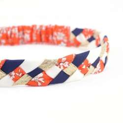 Headband LIBERTY Capel orange or FIL GOOD Made in France