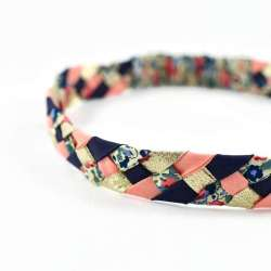 Headband LIBERTY Claire Aude ardoise FIL GOOD Made in France