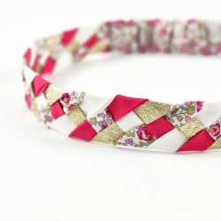 Headband LIBERTY Eloise rose FIL GOOD Made in France_02