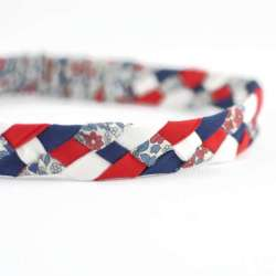 Headband LIBERTY Emilias flower bleu rouge FIL GOOD Made in France_02