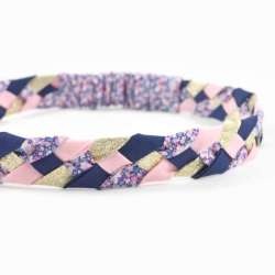 Headband LIBERTY Pepper violet FIL GOOD Made in France