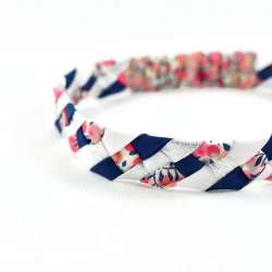 Headband LIBERTY Wiltshire pois de senteur barbe à papa FIL GOOD Made in France