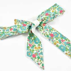 Ceinture LIBERTY Betsy turquoise vert robe cérémonie FIL GOOD Made in France
