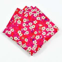 Pochette de costume Liberty Mitsi rouge FIL GOOD Made in France