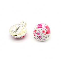 Boucle d'oreille à clips LIBERTY Phoebe rose FIL GOOD Made in France