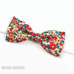 Liberty Betsy Ann rouge garance noeud papillon simple slim