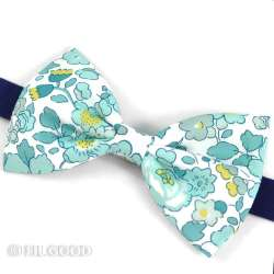 Noeud papillon simple large homme Liberty Betsy Mint and Lemon