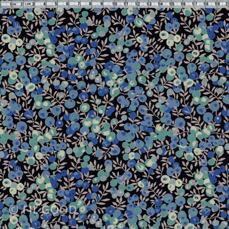 Liberty Wiltshire noir bleu vert