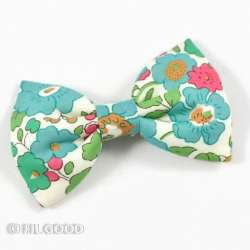 Broche noeud papillon Liberty Betsy turquoise